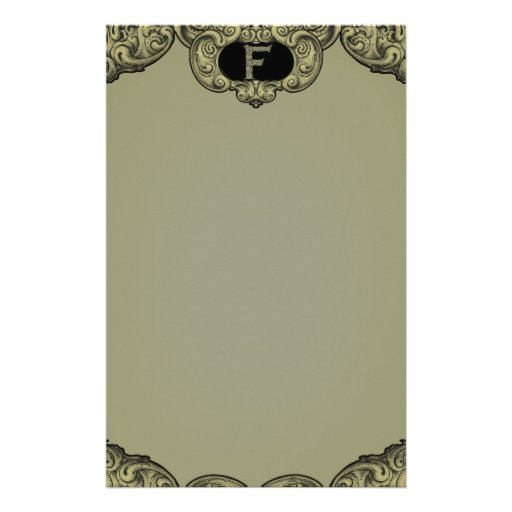F - The Falck Alphabet (Golden) Stationery