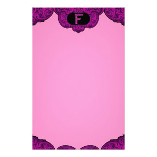 F - The Falck Alphabet (Pink) Personalized Stationery