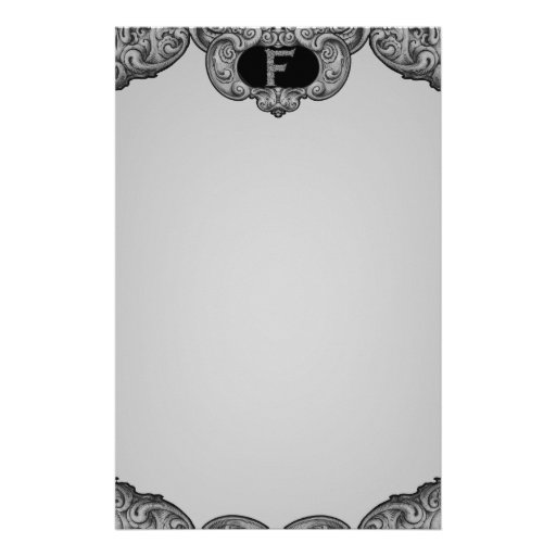 F - The Falck Alphabet (Silvery) Custom Stationery