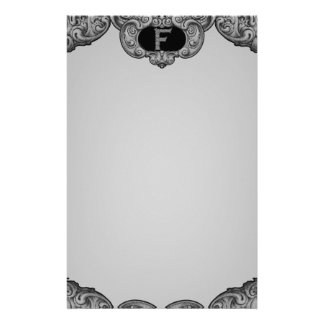 F - The Falck Alphabet (Silvery) Stationery Paper
