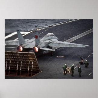 FA-18 take off USS Stennis Poster