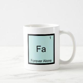 Fa - Forever Alone Funny Element Meme Chemistry Basic White Mug