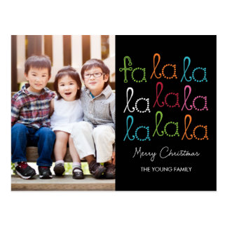 Fa La La Holiday Photo Card Postcard