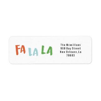 Fa La La Holiday Return Address Labels