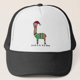 fa la la la la la la la llama trucker hat