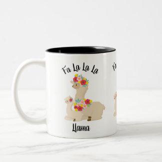 Fa La La La Llama and Baby Llama Tea Coffee Mug