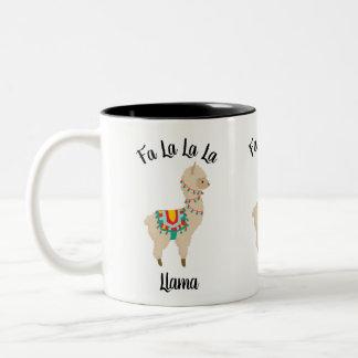Fa La La La Llama Christmas Lights Tea Coffee Mug