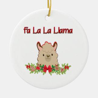 Fa La la Llama Ceramic Ornament