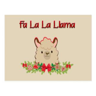 Fa La La Llama Postcard