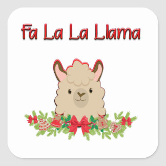 Fa La La Llama Square Sticker