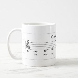 'Fa so la' shape-note major scale The Sacred Harp Basic White Mug