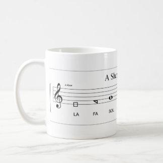 'Fa so la' shape-note minor scale The Sacred Harp Basic White Mug