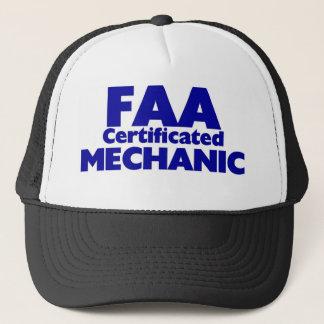 FAA Certificated Mechanic Trucker Hat