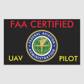 FAA CERTIFIED DRONE STICKER