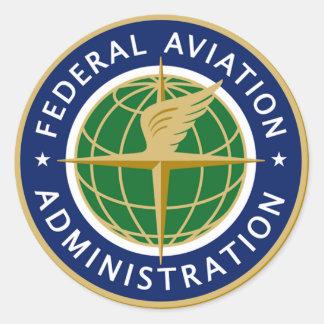 FAA FEDERAL AVIATION CLASSIC ROUND STICKER
