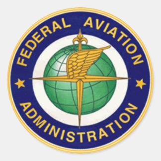 FAA INSIGNIA ROUND ROUND STICKER