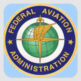 FAA INSIGNIA SQUARE STICKER