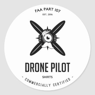 FAA Part 107 Drone Pilot Com. Certified Sticker