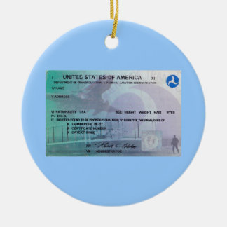 FAA Pilot Ceramic Ornament