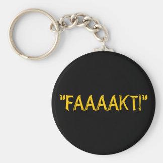 """""""FAAAAKT!"""" BASIC ROUND BUTTON KEY RING"""