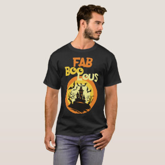 FAB BOO LOUS Funny Halloween Ghost T-Shirt