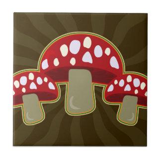 Fab Fungi Mushrooms Ceramic Tile