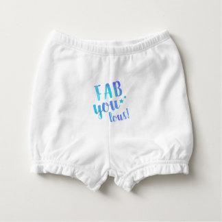 Fab YOU Lous Watercolor Blue Baby Ruffle Diaper Nappy Cover