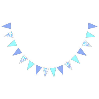Fab YOU Lous Watercolor Blue Star Bunting Flag