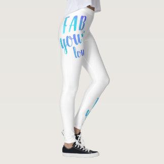 Fab YOU Lous Watercolor Blue Star Leggings