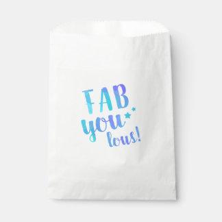 Fab YOU Lous Watercolor Blue Star Paper Bag