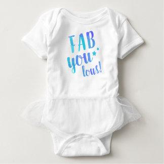 Fab YOU Lous Watercolor Blue Star Tutu Baby Bodysuit
