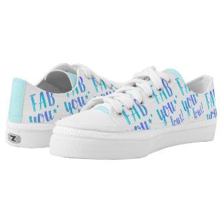 Fab You Lous Word Watercolor Star Running Shoe
