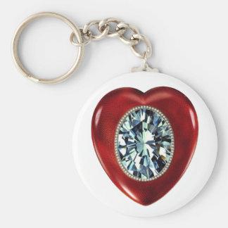 Faberge Heart basic button key chain
