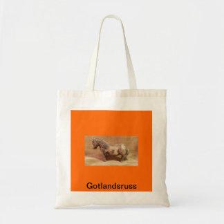 Fabric bag with Hästmotiv