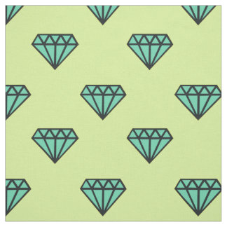 Fabric: Blue, mint diamond pattern Fabric