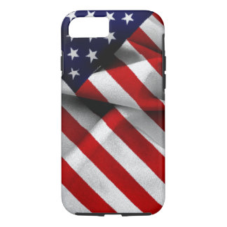 Fabric Effect US Flag iPhone 7 Case