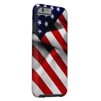 Fabric Effect US Flag Tough iPhone 6 Case