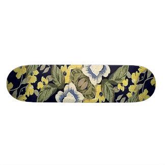 Fabric Floral Decorative Background Pattern Skateboard Deck