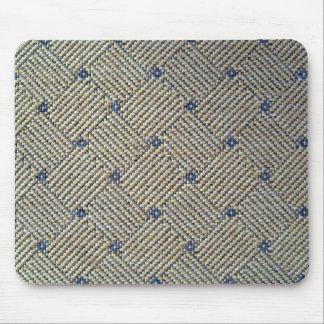 Fabric grid texture mousepad