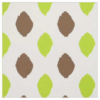 Fabric: Ikat pattern in brown and lime green Fabric