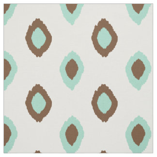 Fabric: Ikat pattern in brown and tiffany blue Fabric