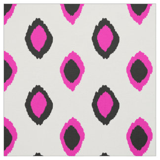 Fabric: Ikat pattern in pink and black Fabric