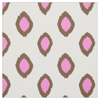 Fabric: Ikat pattern in pink and brown Fabric