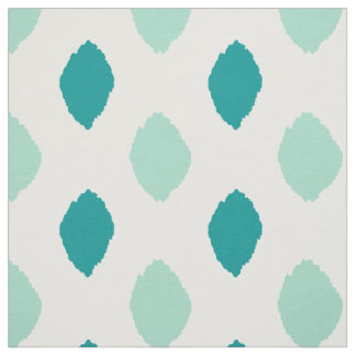 Fabric: Ikat pattern in teal and blue Fabric