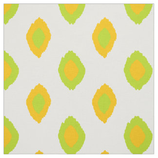 Fabric: Ikat pattern in yellow and lime green Fabric