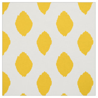Fabric: Ikat pattern in yellow Fabric