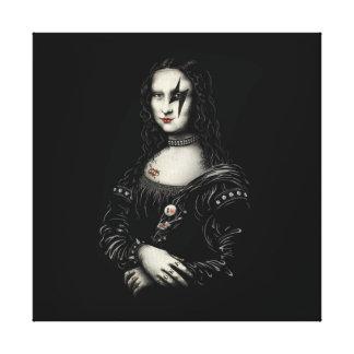 Fabric Mona Lisa Canvas Print