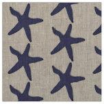 fabric Nautical starfish beach blue