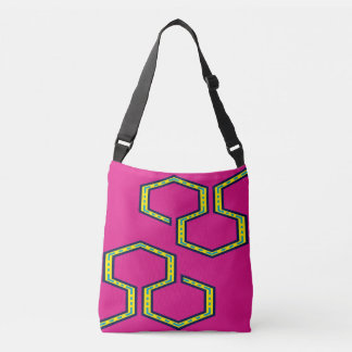fabric stock market with printing wayuu crossbody bag