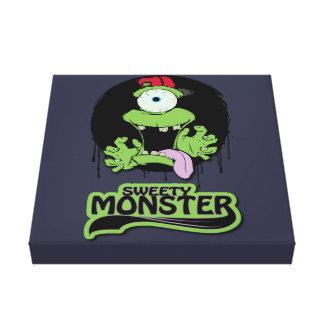 Fabric Sweaty Monster Canvas Prints